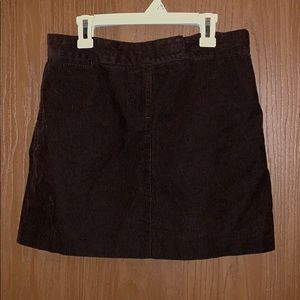 J. Crew size 2 skirt, corduroy type, brown